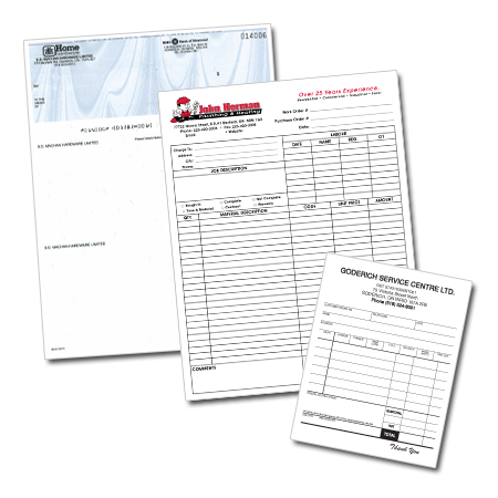 Business Forms and Cheques Products from Precision Print